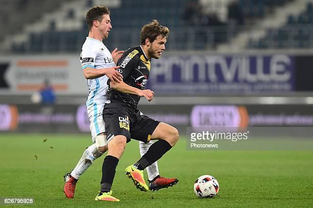 Brecht Dejaegere midfielder of KAA Gent and Mario Ticinovic of sporting lokeren during the Croky Cup match between KAA Gent and KSC LOKEREN in the...