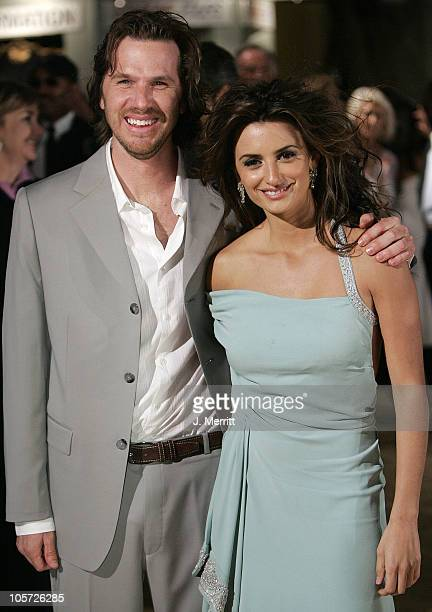 Breck Eisner and Penelope Cruz during Sahara Los Angeles Premiere Arrivals at Grauman's Chinese Theater in Hollywood California United States