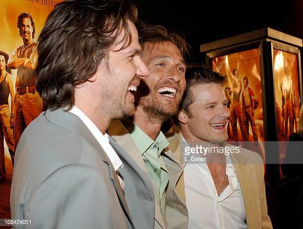 Breck Eisner, director, Matthew McConaughey and Steve Zahn