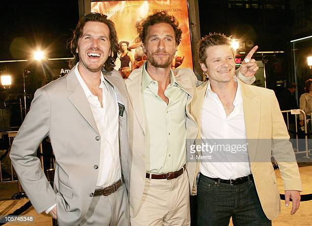 """Breck Eisner, Matthew McConaughey and Steve Zahn during """"Sahara"""" Los Angeles Premiere- Arrivals at Grauman's Chinese Theater in Hollywood,..."""