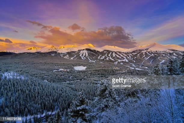 Breckenridge Ski Slopes View Landscape with Fresh Snow
