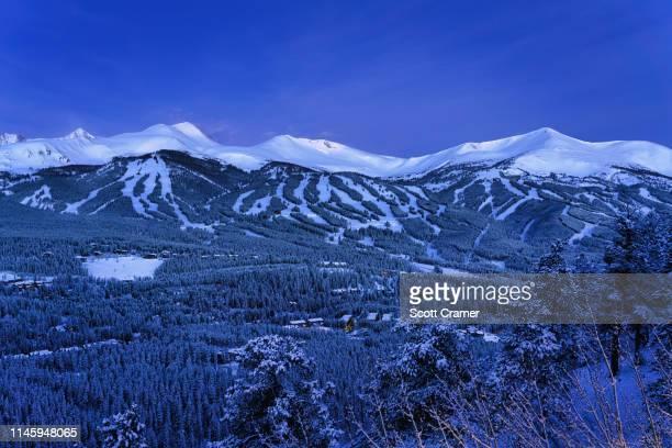 Breckenridge Ski Slopes View with Fresh Snow