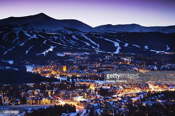 breckenridge, town view from mount baldy - mount baldy stock photos and pictures