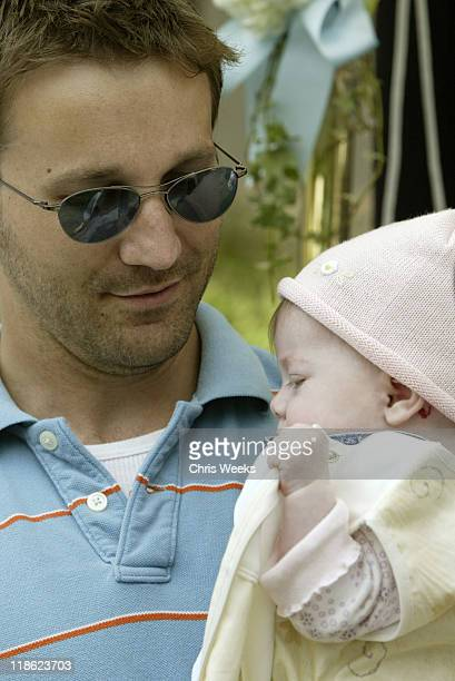 """Breckin Meyer and baby during 'Silver Spoon Dog and Baby Buffet"""" Benefitting Much Love Animal Rescue Day One at Private Residence in Beverly Hills..."""