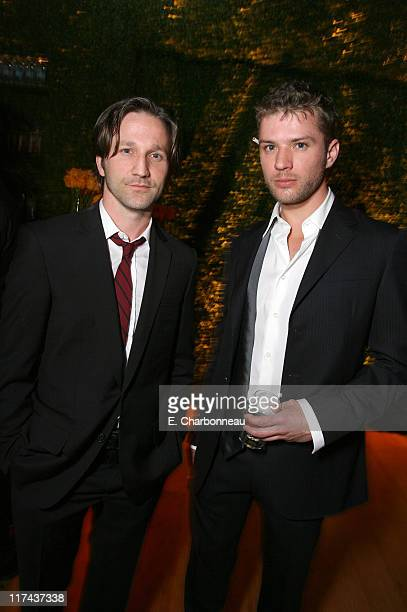 Breckin Meyer and Ryan Phillippe during 2007 Vanity Fair Oscar Party Hosted by Graydon Carter Inside at Mortons in West Hollywood California United...
