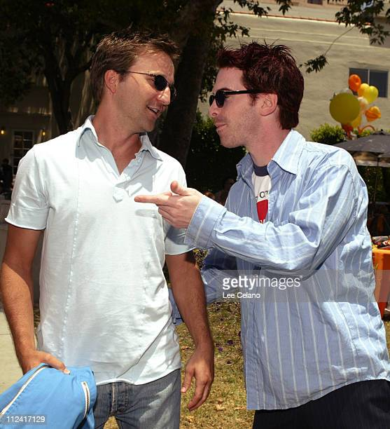 Breckin Meyer and Seth Green during 'Garfield The Movie' World Premiere AfterParty at Zanuck Theater in Los Angeles California United States