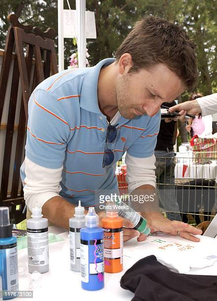 """Breckin Meyer at Much Love Animal Rescue during 'Silver Spoon Dog and Baby Buffet"""" Benefitting Much Love Animal Rescue Day One at Private Residence..."""