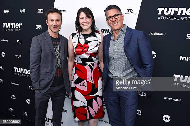 Breckin Meyer of Adult Swim's Robot Chicken Christina Miller President GM of Cartoon Network Adult Swim Boomerang and Rob Sorcher Executive Vice...