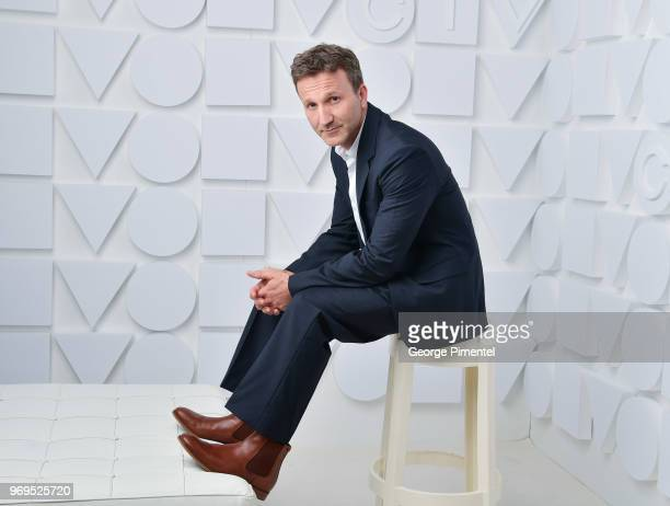 Breckin Meyer poses at the CTV Upfronts portrait studio held at the Sony Centre For Performing Arts on June 7 2018 in Toronto Canada