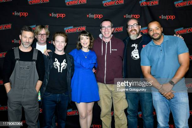 Breckin Meyer, Tom Sheppard, Seth Green, Milana Vayntrub, Matthew Senreich, John Harvatine IV and Donald Faison attend the New York Comic Con 2019 -...