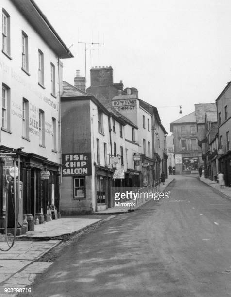 Brecon a market town and community in Powys Mid Wales Circa 1955