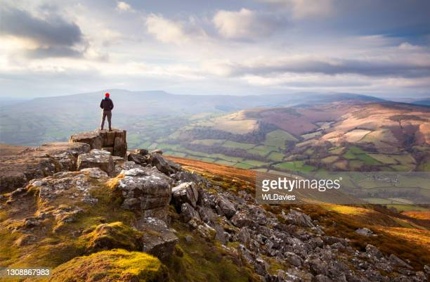 brecon beacons landscape - south wales stock pictures, royalty-free photos & images