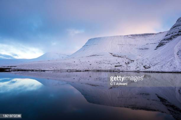 brecon beacons winter snow sunset - landscape scenery stock pictures, royalty-free photos & images