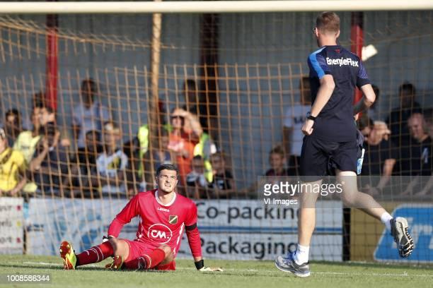 NAC Breda goalkeeper Aro Muric caretaker Paul Jongmans of NAC Breda during the Preseason Friendly match between Konyaspor and NAC Breda at Sportpark...