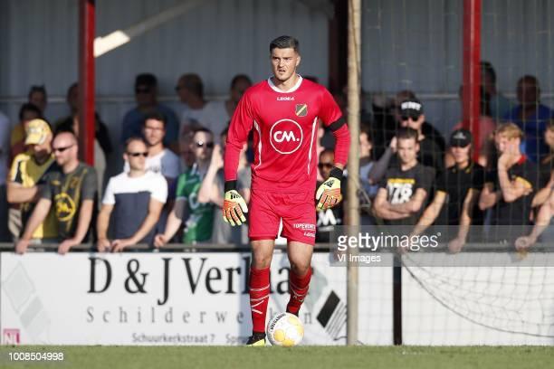 NAC Breda goalkeeper Aro Muric during the Preseason Friendly match between Konyaspor and NAC Breda at Sportpark De Gagelrijzen on July 31 2018 in...