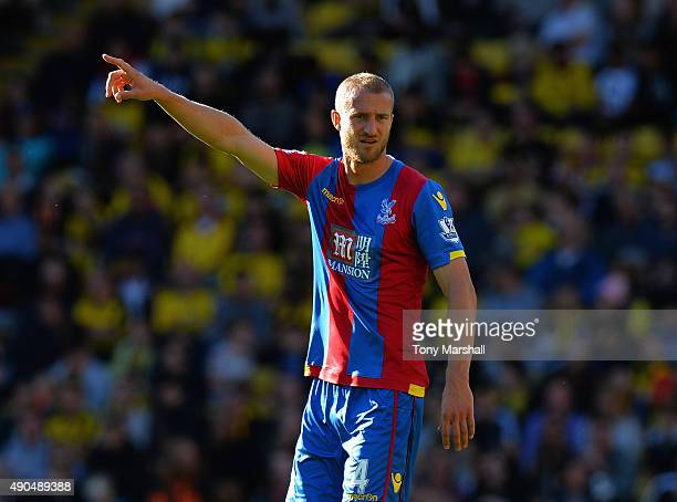 Brede Hangeland of Crystal Palace during the Barclays Premier League match between Watford and Crystal Palace at Vicarage Road on September 27 2015...