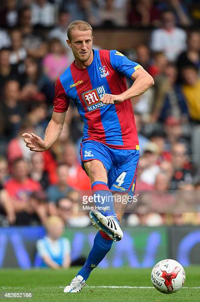 Brede Hangeland of Crystal Palace in action during a Pre Season Friendly between Fulham and Crystal Palace at Craven Cottage on August 1 2015 in...