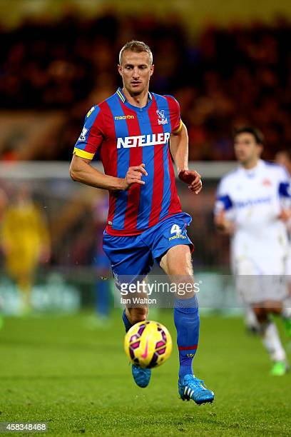 Brede Hangeland of Crystal Palace runs with the ball during the Barclays Premier League match between Crystal Palace and Sunderland at Selhurst Park...
