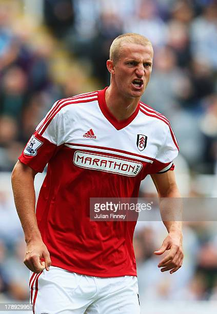 Brede Hangeland of Fulham in action during the Barclays Premier League match between Newcastle United and Fulham at St James' Park on August 31 2013...