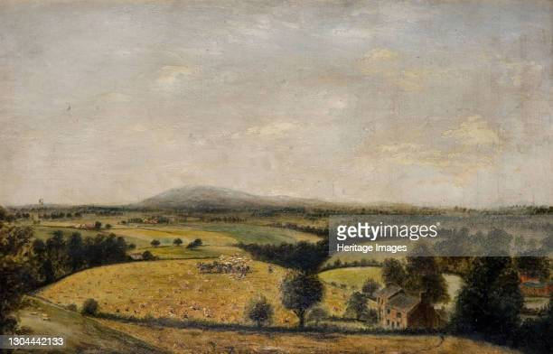 Bredon Hill . Bredon Hill is a hill in Worcestershire, England, south-west of Evesham in the Vale of Evesham. Artist Edward Wilden.