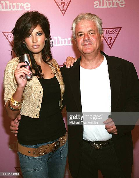Bree Condon and Ilia Lekach CEO of Parlux during GUESS Fragrance Launch Party August 17 2005 at Skybar in Los Angeles California United States