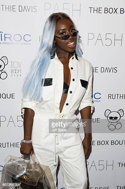 Bree Runway attends the PA5H London Fashion Week After Party at Toy RoOm on September 17 2016 in London England