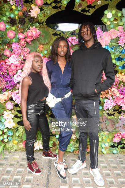 Bree Runway Leomie Anderson and friend attend Nick Grimshaw's Sexy Brunch at Sexy Fish on May 21 2017 in London England
