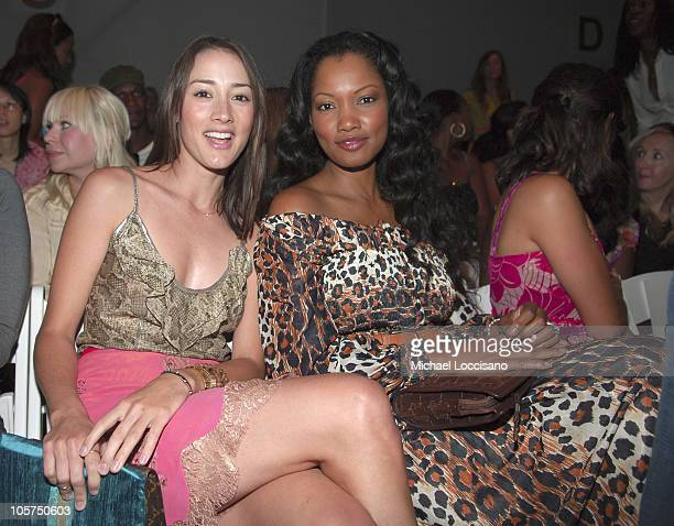 Bree Turner and Garcelle Beauvais front row at Tracy Reese Spring 2006