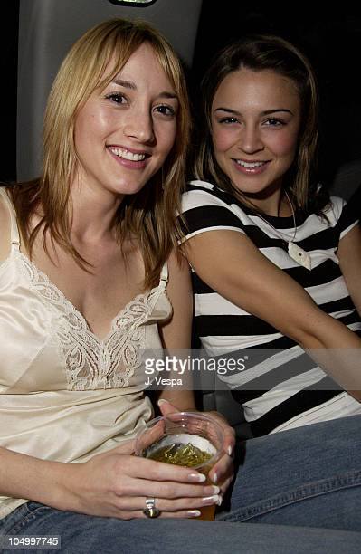 Bree Turner and Samaire Armstrong during Movieline Hugo Boss Party at Hugo Boss Store South Coast Plaza in Costa Mesa California United States