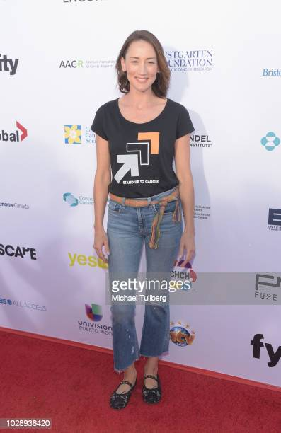 Bree Turner attends the 2018 Stand Up To Cancer fundraising special telecast at Barker Hangar on September 7 2018 in Santa Monica California