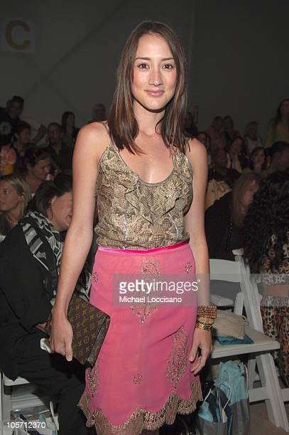 Bree Turner front row at Tracy Reese Spring 2006 during Olympus Fashion Week Spring 2006 Tracy Reese Front Row and Backstage at Bryant Park in New...