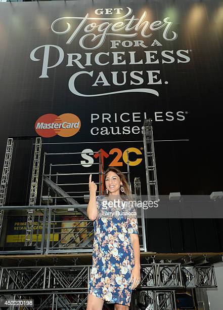 Bree Turner joins MasterCard and Stand Up To Cancer Launch The Priceless Table in Times Square on July 16 2014 in New York City
