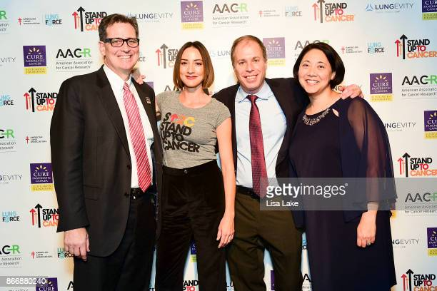 Bree Turner Stand Up To Cancer Ambassador joined by renowned Boston cancer researchers Dr David Ryan leader of the SU2CLustgarten Pancreatic Cancer...