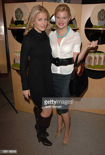Bree Williamson and Heather Thom during Launch Of 2ist Soy Collection October 5 2006 at Saks Fifth Avenue in New York City New York United States
