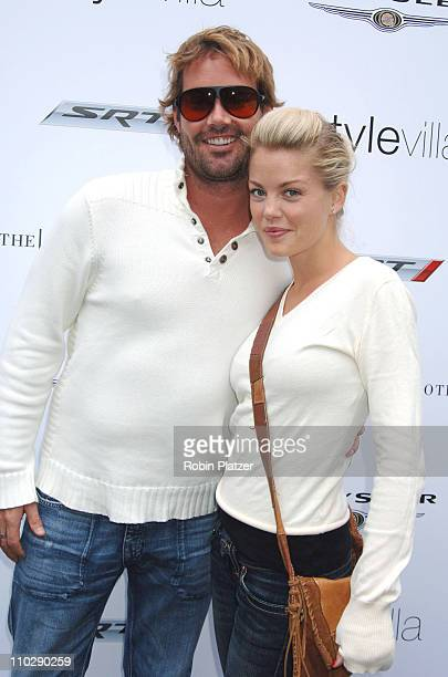 Bree Williamson and husband Josh Evans during 2006 MTV Video Music Awards Style Villa at Bryant Park Hotel in New York City New York United States