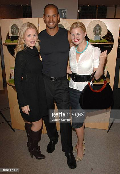 Bree Williamson Eric Wheldon and Heather Thom during Launch Of 2ist Soy Collection October 5 2006 at Saks Fifth Avenue in New York City New York...