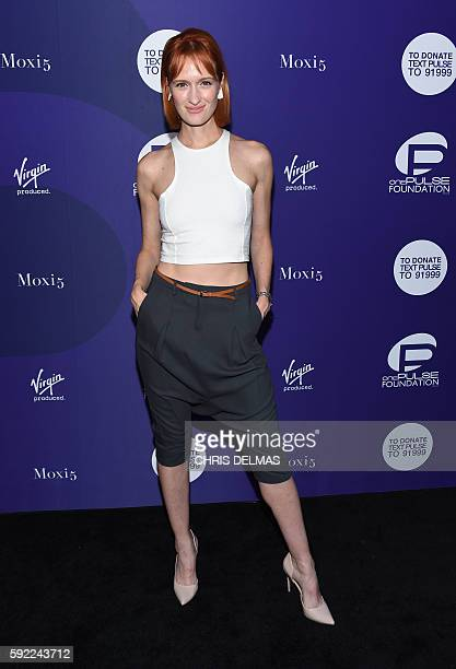 Breeda Wool attends OnePULSE Foundation A Hollywood Benefit For Orlando fundraiser event in Hollywood California on August 19 2016 / AFP / CHRIS...