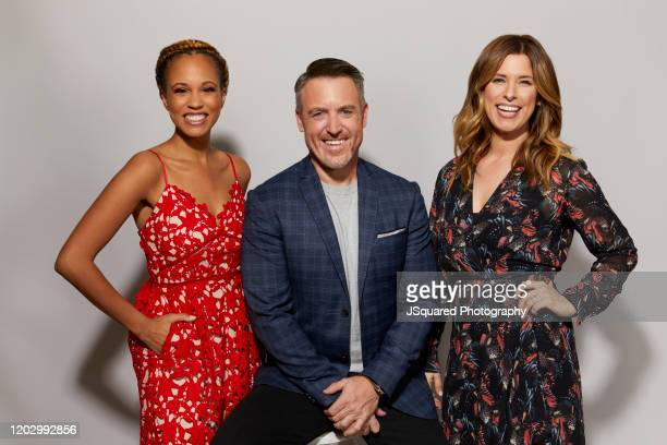Breegan Jane Darren Keefe and Carrie Locklyn of HGTV's 'Extreme Makeover Home Edition' poses for a portrait at the 2020 Winter TCA Portrait Studio at...