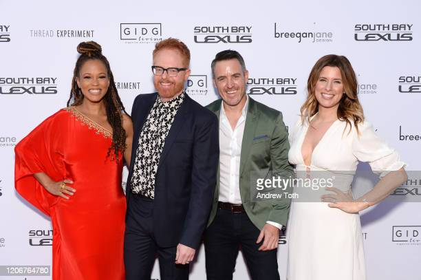 Breegan Jane Jesse Tyler Ferguson Darren Keefe and Carrie Locklyn attend the Extreme Makeover Home Edition series premiere and screening party on...