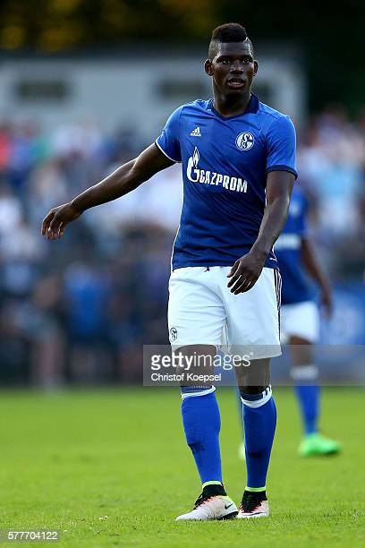 Breel Embolo of Schalke is seen during the friendly match between DSC WanneEickel and FC Schalke 04 at Mondpalast Arena on July 19 2016 in Herne...