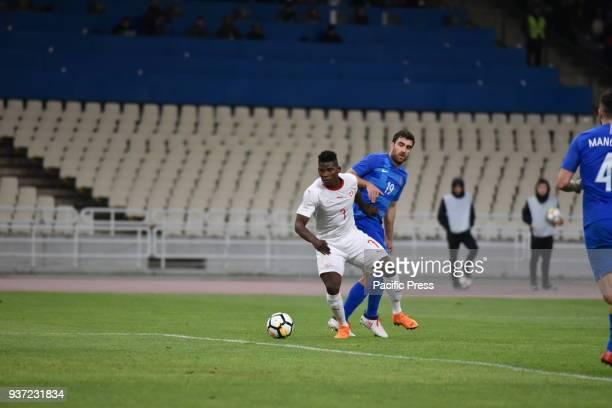 STADIUM ATHENS ATTIKI GREECE Breel Embolo of Switzerland avoids Sokratis Papastathopoulos of Greece Switzerland won against Greece with final score...
