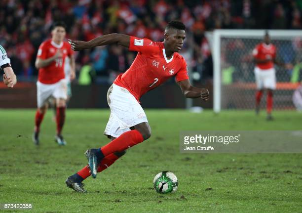 Breel Embolo of Switzerland during the FIFA 2018 World Cup Qualifier PlayOff Second Leg between Switzerland and Northern Ireland at St JakobPark...