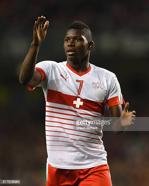 Breel Embolo of Switzerland during the International Friendly match between Republic of Ireland and Switzerland at Aviva Stadium on March 25 2016 in...