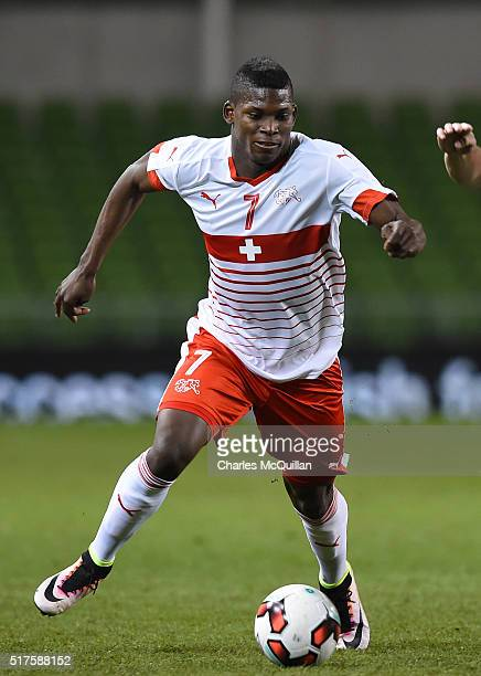 Breel Embolo of Switzerland during the international friendly match between the Republic of Ireland and Switzerland at Aviva Stadium on March 25 2016...