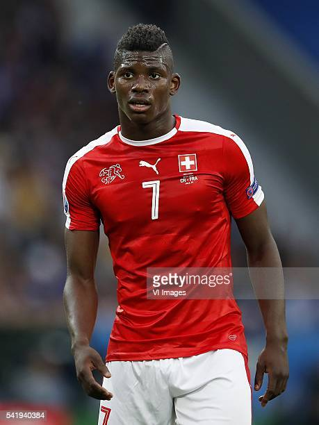 Breel Embolo of Switzerland during the UEFA EURO 2016 Group A group stage match between Switzerland and France at the Stade PierreMauroy on june 19...