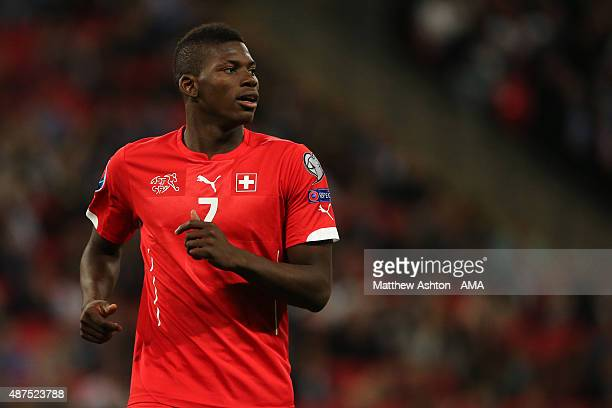 Breel Embolo of Switzerland during the UEFA EURO 2016 Qualifier Group E England v Switzerland on September 8 2015 in London United Kingdom