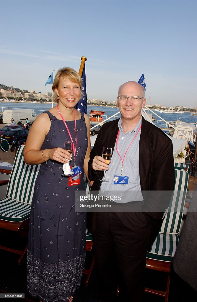 Breena Camden & Peter Bayliff during Cannes 2002 - Anheuser Busch and Hollywood Reporter Dinner with Randy Newman in Cannes, France.
