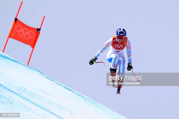 Breezy Johnson of the United States competes during the Ladies' Downhill on day 12 of the PyeongChang 2018 Winter Olympic Games at Jeongseon Alpine...