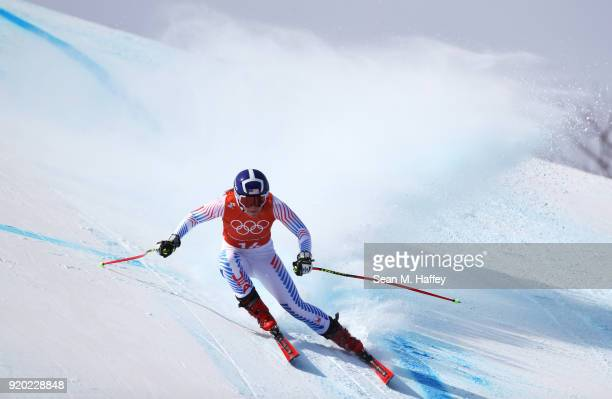 Breezy Johnson of the United States makes a run during Alpine Skiing Ladies' Downhill Training on day 10 of the PyeongChang 2018 Winter Olympic Games...