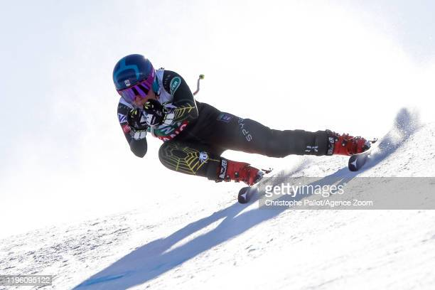 Breezy Johnson of USA competes during the Audi FIS Alpine Ski World Cup Women's Downhill on January 25, 2020 in Bansko Bulgaria.